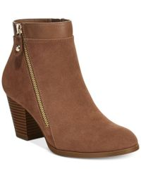 Style & Co. | Brown Jenell Booties, Only At Macy's | Lyst