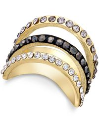INC International Concepts | Metallic Gold-tone Embellished Triple Ring, Only At Macy's | Lyst