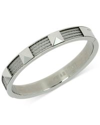 Charriol | Metallic Womens Silver-tone Cable Bangle Bracelet | Lyst