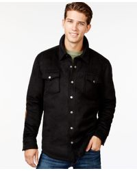 American Rag | Black Men's Elbow-patch Shirt Jacket, Only At Macy's for Men | Lyst