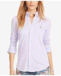 Polo Ralph Lauren | White Long-sleeve Knit Shirt | Lyst