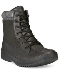 BEARPAW | Black Men's Mason Mid Duck Waterproof Boots for Men | Lyst