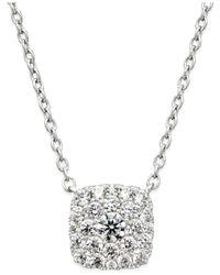 Macy's - Metallic Diamond Pendant Necklace (1 Ct. T.w.) In 14k White Gold - Lyst