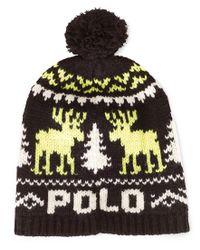 Polo Ralph Lauren   Black Reindeer Wool Cap for Men   Lyst