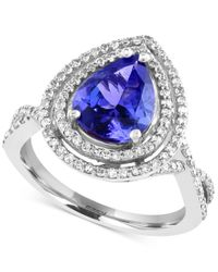 Effy Collection | Blue Tanzanite (2-1/10 Ct. T.w.) And Diamond (1/2 Ct. T.w.) In 14k White Gold | Lyst