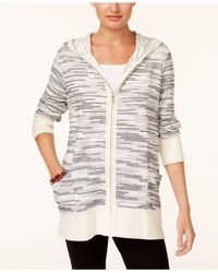 Style & Co. - Multicolor Petite Knit Zip-up Hoodie - Lyst