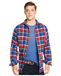 Polo Ralph Lauren | Red Plaid Twill Workshirt for Men | Lyst