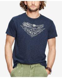 Denim & Supply Ralph Lauren - Pink Men's Graphic Jersey Crew Neck T-shirt for Men - Lyst