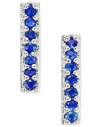 Macy's - Blue Sapphire Linear Drop Earrings (1/8 Ct. T.w.) In 14k White Gold - Lyst