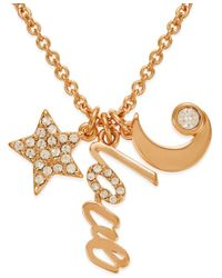 kate spade new york | Pink 12k Gold-plated Love Charm Pendant Necklace | Lyst