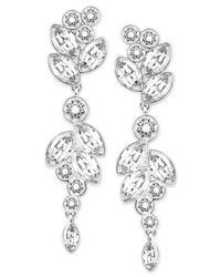 Swarovski   Metallic Silver-tone Multi-crystal Drop Earrings   Lyst