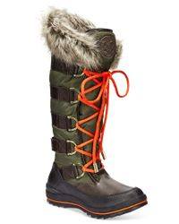 Guess | Brown Women's Hadly Lace-up Cold Weather Boots | Lyst