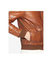 Polo Ralph Lauren - Brown Farrington Bomber Leather Jacket for Men - Lyst