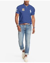 Polo Ralph Lauren - Blue Men's Big And Tall Black Watch Polo Shirt for Men - Lyst