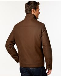 London Fog | Brown Big And Tall Oxford Hipster Jacket for Men | Lyst