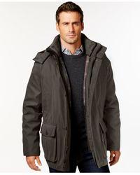 London Fog - Green Canvas Parka Jacket  for Men - Lyst