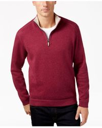 Tommy Bahama | Red Flip Side Reversible Mock-collar Sweater for Men | Lyst