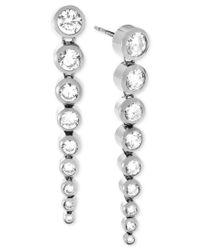 Michael Kors - Metallic Silver-tone Statement Earrings - Lyst