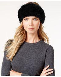 Surell | Black Stretchy Sheared Rabbit Fur Headband Neckwarmer | Lyst