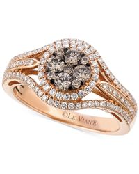 Le Vian - Pink Brown And White Diamond Ring (7/8 Ct. T.w.) In 14k Rose Gold - Lyst