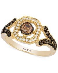 Le Vian | Metallic Chocolatier Chocolate Deco Estate Gold Diamond (1/3 Ct. T.w.) Ring In 14k Gold | Lyst