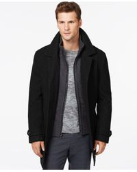 Michael Kors | Black Wool-blend Car Coat for Men | Lyst