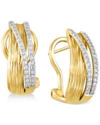 Effy Collection - Metallic D'oro By Effy Diamond Earrings (1/5 Ct. T.w.) In 14k Gold - Lyst