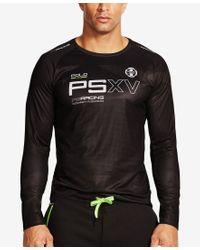 Polo Ralph Lauren - Brown Polo Sport Men's Microdot Long Sleeve Crew-neck T-shirt for Men - Lyst
