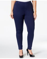 Style & Co. | Blue Plus Size Pull-on Twill Leggings | Lyst
