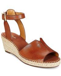 Clarks | Brown Artisan Women's Petrina Selma Espadrille Wedge Sandals | Lyst