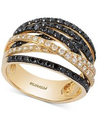 Effy Collection - Metallic Diamond Crossover Ring (1-1/3 Ct. T.w.) In 14k Gold - Lyst