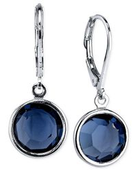 2028 | Silver-tone Faceted Blue Crystal Drop Earrings, A Macy's Exclusive Style | Lyst