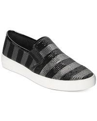 Michael Kors | Black Michael Keaton Slip-on Sneakers | Lyst