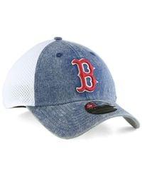 super popular f2bb8 0a8b3 ... greece lyst ktz boston red sox hooge neo 39thirty cap in blue for men  549ad 9fd13