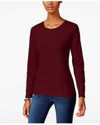 Style & Co. | Purple Crew-neck Top, Only At Macy's | Lyst