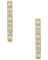 Macy's - Metallic Cubic Zirconia Bar Stud Earrings (2/5 Ct. T.w.) In 10k Gold - Lyst