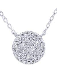 Giani Bernini | Metallic Cubic Zirconia Circle Pendant Necklace (2/3 Ct. T.w.) In Sterling Silver | Lyst