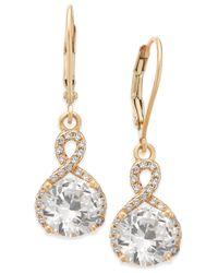 Giani Bernini - Metallic Cubic Zirconia Infinity Drop Earrings In 18k Gold-plated Sterling Silver - Lyst