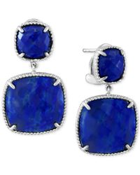 Effy Collection | Metallic Effy Lapis Lazuli Drop Earrings (19 Ct. T.w.) In Sterling Silver | Lyst