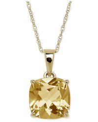 Macy's - Metallic Citrine (2-1/5 Ct. T.w.) Pendant Necklace In 14k Gold - Lyst