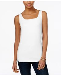 Style & Co. | White Shelf-bra Tank Top, Only At Macy's | Lyst