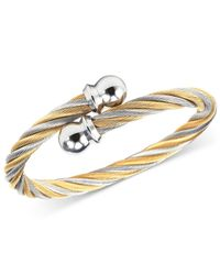 Charriol | Metallic Women's Celtic Two-tone Pvd Stainless Steel Cable Bangle Bracelet 04-801-1216-0s | Lyst