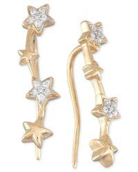 Wrapped in Love   Metallic Diamond Multi Star Ear Crawlers (1/10 Ct. T.w.) In 10k Gold   Lyst
