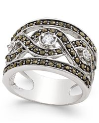 INC International Concepts | Metallic Silver-tone Crystal Braided Statement Ring, Only At Macy's | Lyst