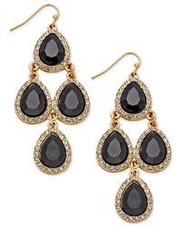 INC International Concepts - Metallic Teardrop Chandelier Earrings, Only At Macy's - Lyst