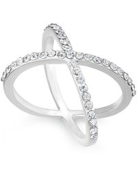 INC International Concepts | Metallic Criss Cross Rhinestone Rings, Only At Macy's | Lyst