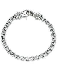 Macy's   Metallic Linked Bracelet In Stainless Steel   Lyst