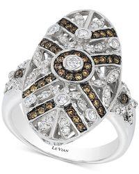 Le Vian - Metallic Diamond Deco-style Drama Ring (3/4 Ct. T.w.) In 14k White Gold - Lyst