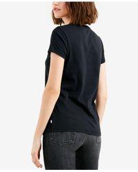 Levi's - Black ® Cotton Logo Graphic T-shirt - Lyst
