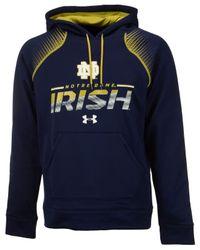 Under Armour - Blue Men's Notre Dame Fighting Irish Metallic Chrome Ink Hoodie for Men - Lyst